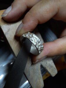Vijlen van een ring